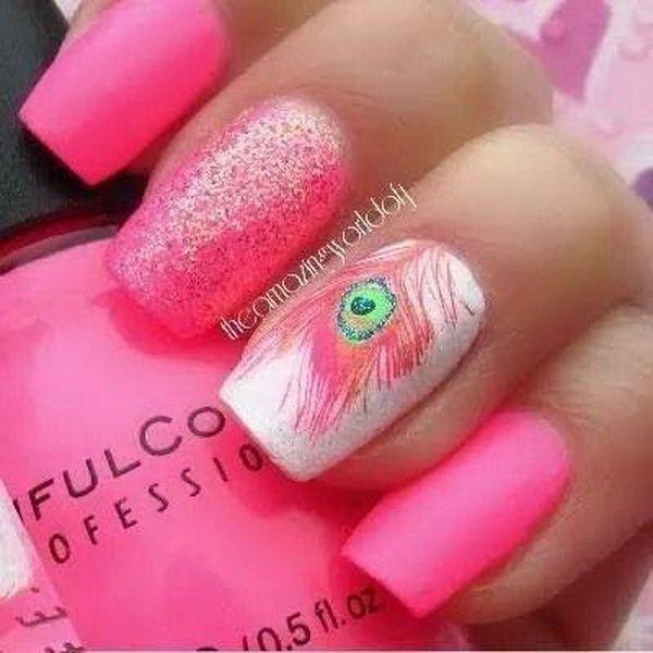 40 Pretty Feather Nail Art Designs And Tutorials - 40 Pretty Feather Nail Art Designs And Tutorials #2474790 - Weddbook