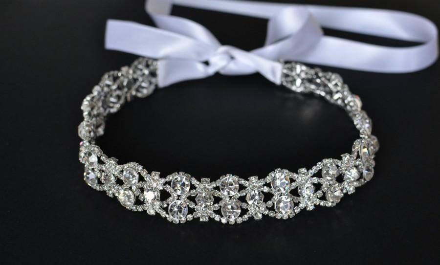 Düğün - Wedding headpiece, headband, GABRIELLA, Rhinestone Headband, Wedding Headband, Bridal Headband, Bridal Headpiece, Rhinestone