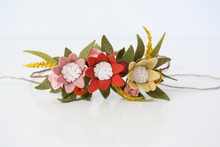 "Mariage - Felt Floral Flower Crown - ""Autumn Girl"" - You Pick Size"