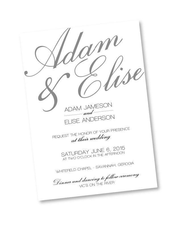 زفاف - Rustic calligraphy Photoshop template wedding invitation
