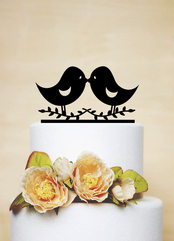 زفاف - Love Bird Topper,Wedding Cake Topper,Wedding Decor,Acylic Wedding Topper-P028