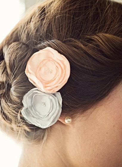 Mariage - Bridal Rose Hair Pins / Wedding Hair Accessory / Wedding Hair Flower / Bridesmaids Hair (40 Colors to choose from)