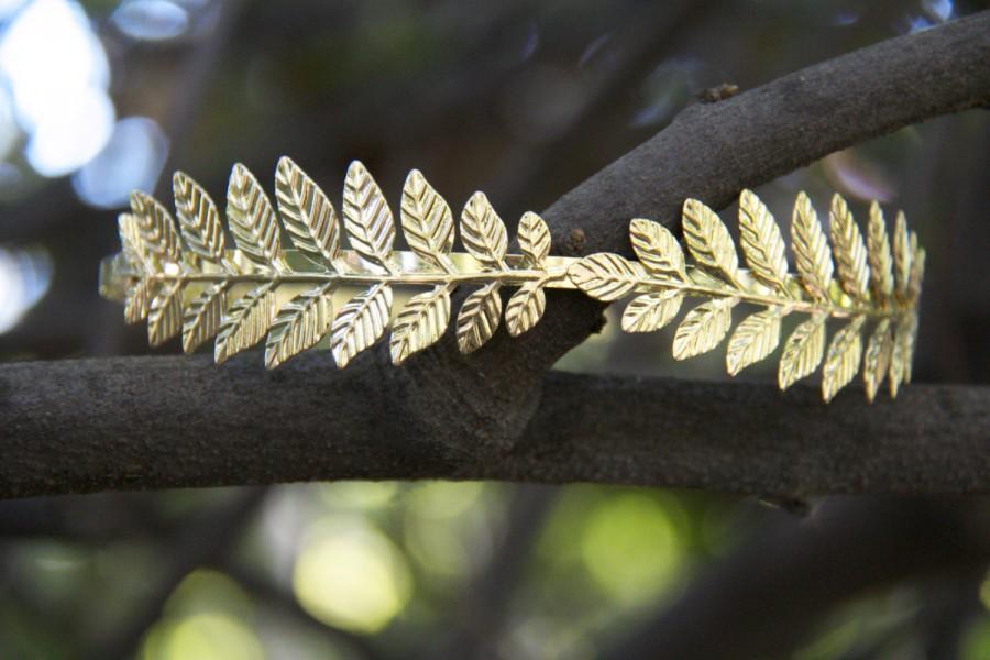 Hochzeit - Gold Leaf Headband/ Leaf Headband/ Laurel Headband/ Boho/ Gold Leaf/ Grecian Headband/ Greek Headband/ Headband/ Gold Headband/ Leaf