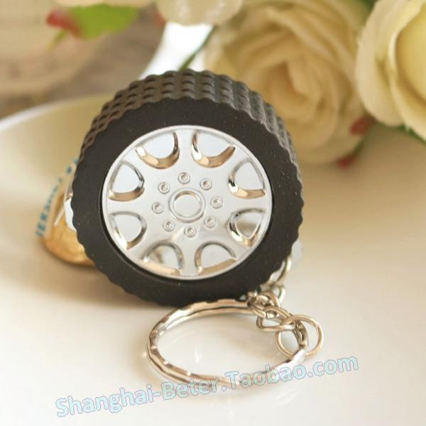 Wedding - 满月酒生日庆生 速度与激情轮圈小卷尺钥匙圈ZH036钥匙扣小礼物