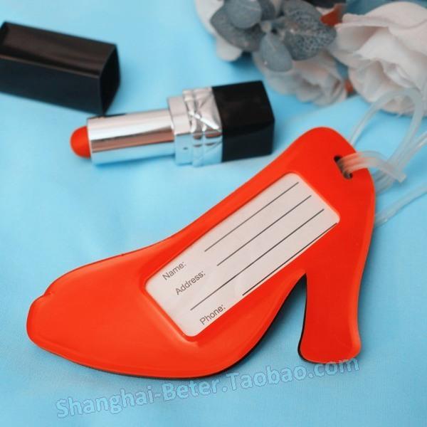 Mariage - 单身派对淑女之夜 红色高跟鞋行李牌ZH011来宾答谢礼物38妇女节