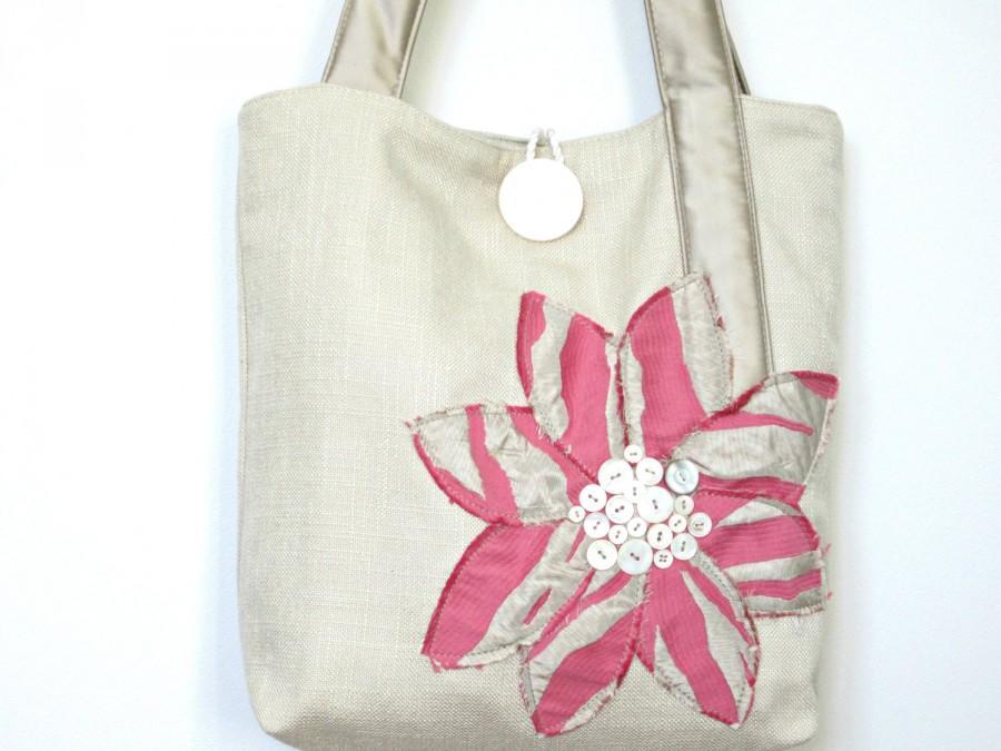 Mariage - Pink Wedding Handbag - Pink Wedding Purse - Brides Wedding Bag  - Bridal Pink Tote Bag - Brides Handbag - Wedding Purse - Bridal Handbag