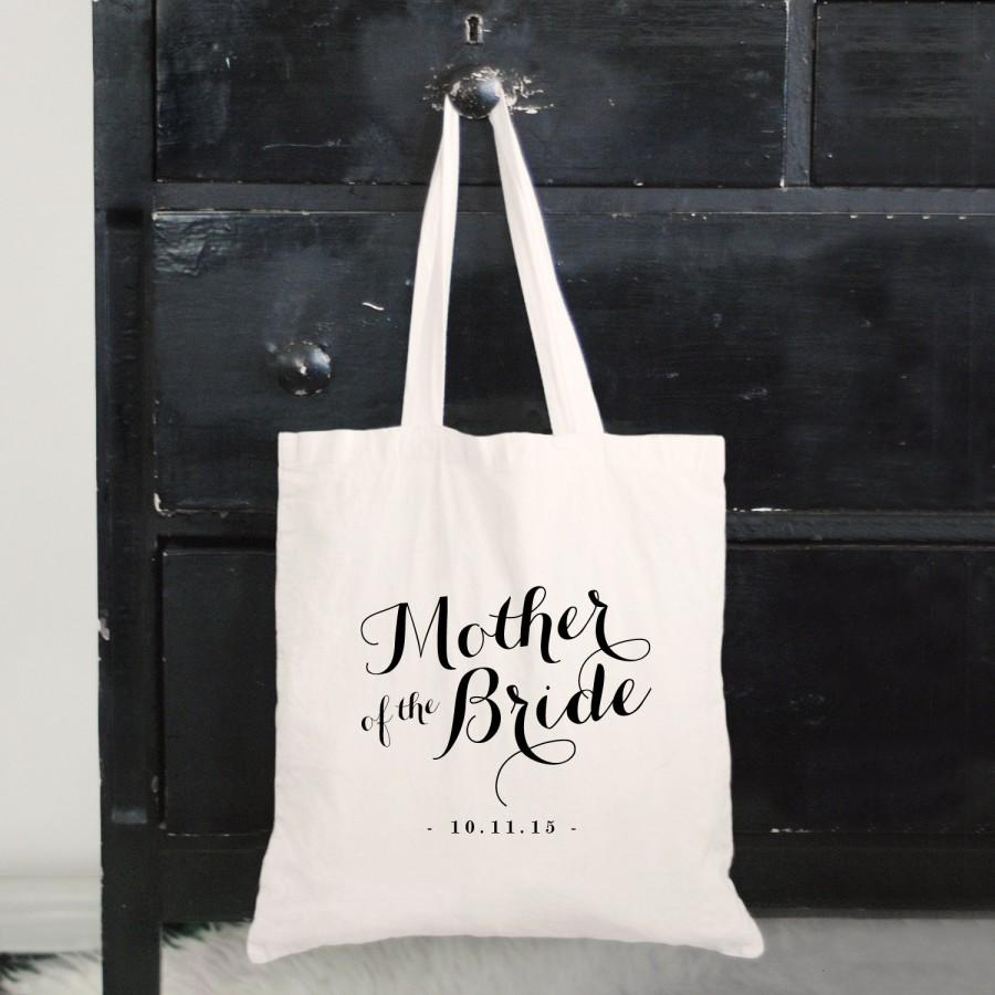 Personalized Mother Of The Bride Tote Bag Mom Keepsake Bridal Party Gift Canvas