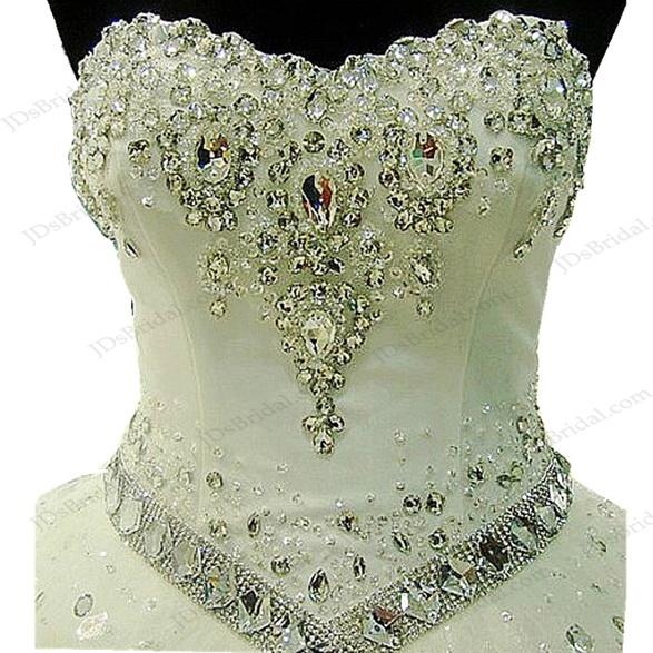 JW16205 Sparkles Sweetheart Neckline Princess Ball Gown Wedding ...