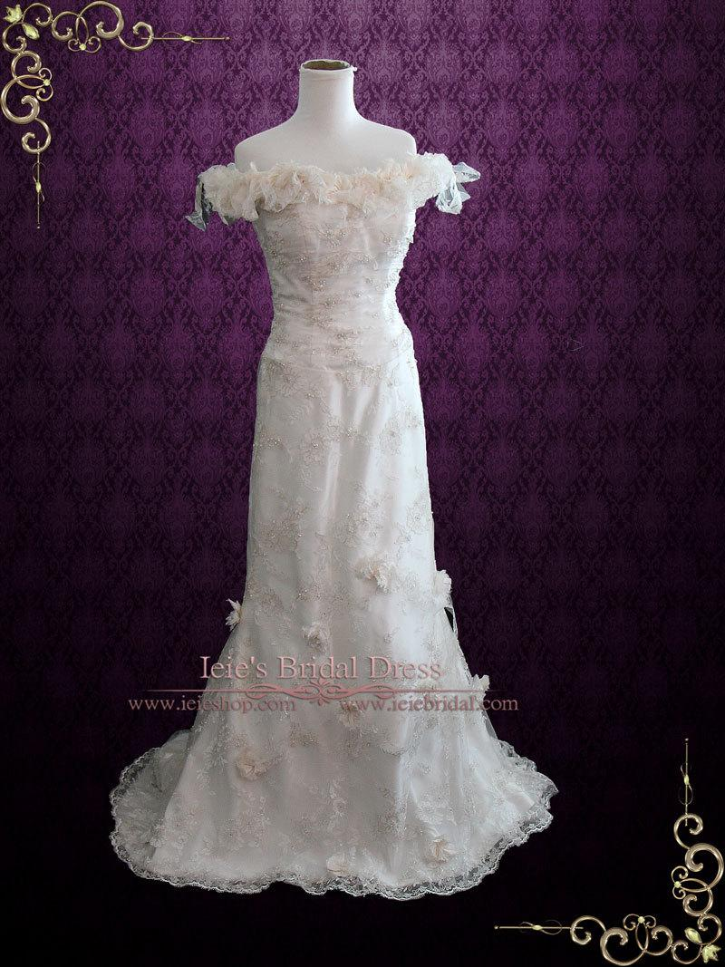 Unique Lace Wedding Dresses : Style lace wedding dress an unique vintage styled