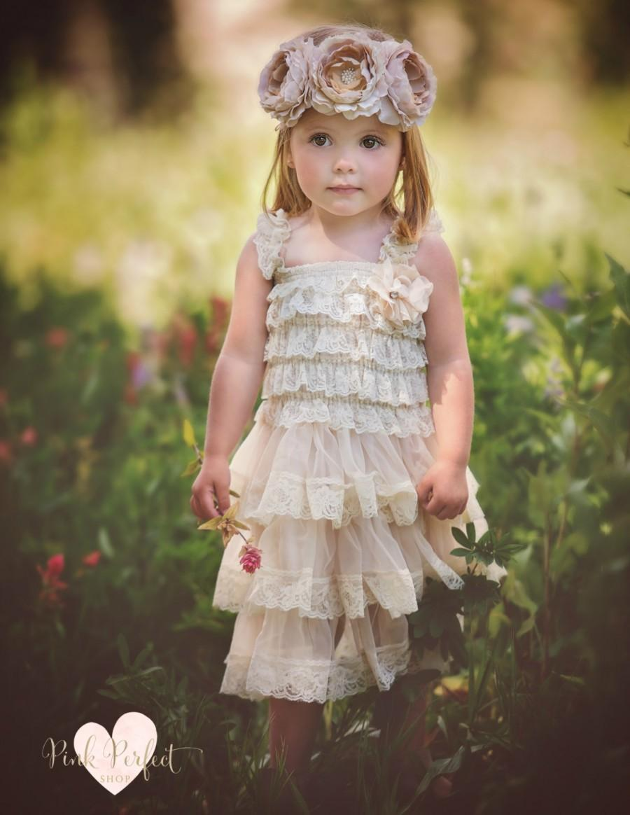 Country Lace Flower Girl Dress – fashion dresses