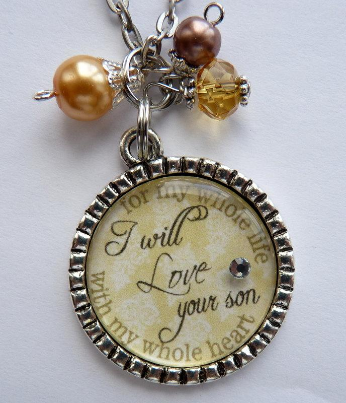 Mother Of The Groom Necklace, I Will Love Your Son With My Whole ...