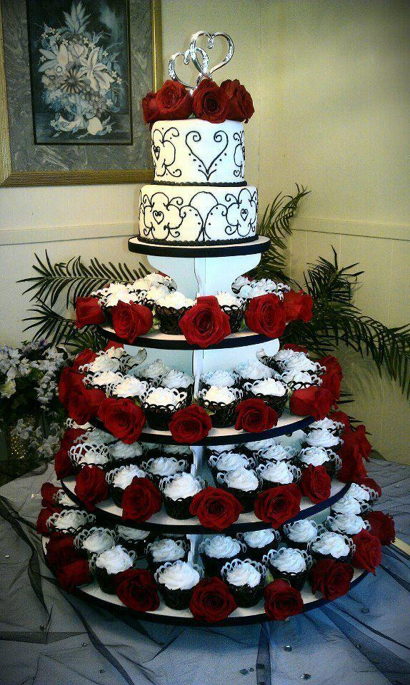 زفاف - Our Vow Renewal Cake And Cupcakes =)