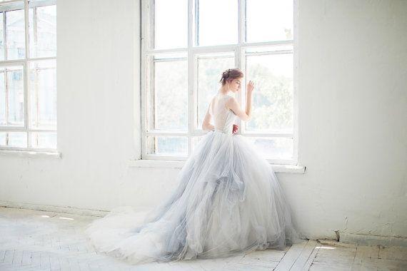 Tulle wedding gown gardenia 3 pieces bodysuit tulle for Wedding dress bodysuit and skirt