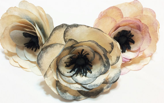 Anemone antique colored paper anemones anemone paper flowers anemone antique colored paper anemones anemone paper flowers coffee filter flowers faux flowers fake flowers floral arrangment flowers mightylinksfo