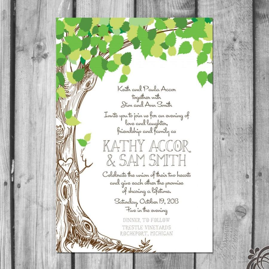 Lush Green Love Tree Wedding Invitation Set #2475800 - Weddbook