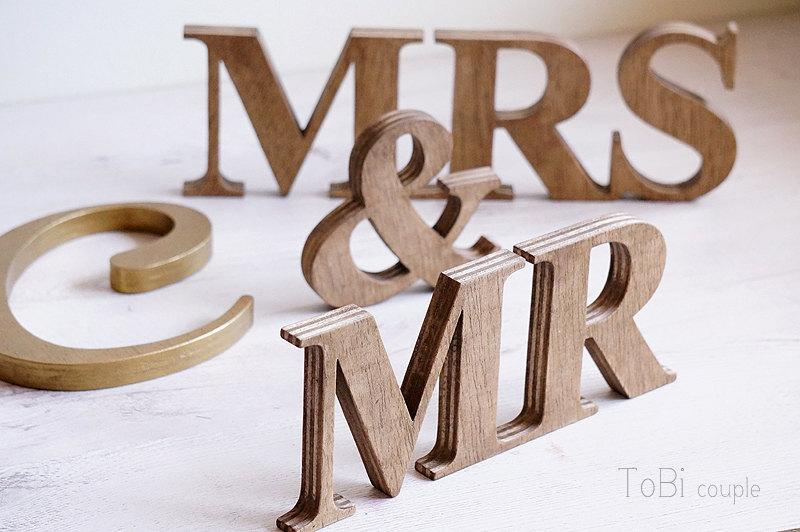 rustic wedding sign mr mrs wooden letters table decor wedding gift