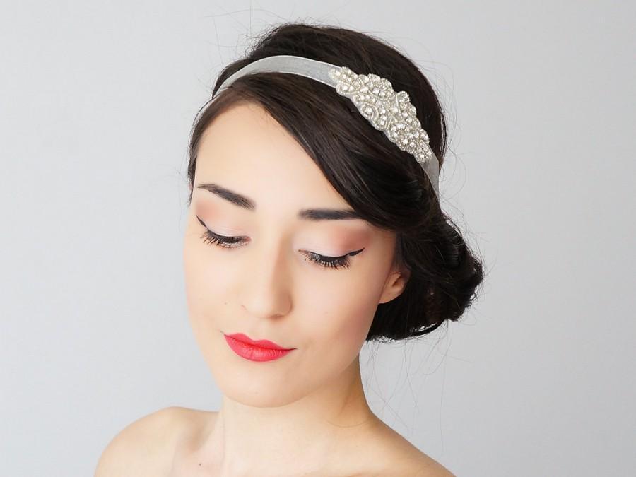 Wedding - Muse Rhinestone Bridal Headband Bridal Headpiece Crystal Headband Retro Headband Wedding Accessories Bridal Accessories