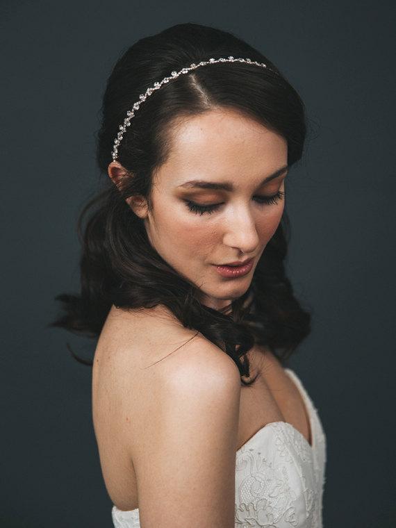 Свадьба - Rose Gold Bridal Headband