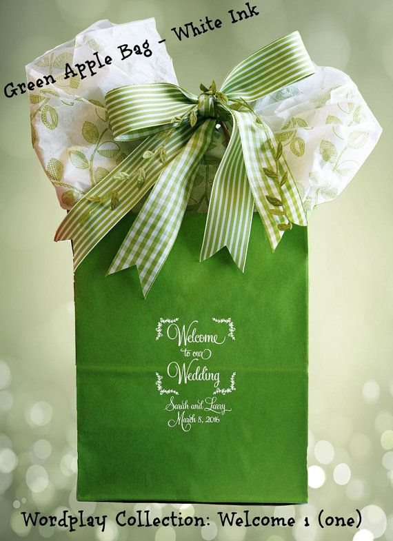 25 Wedding Welcome Bags Personalized Wedding Guest Gift Bag Sturdy Welcome Bag For Weddings