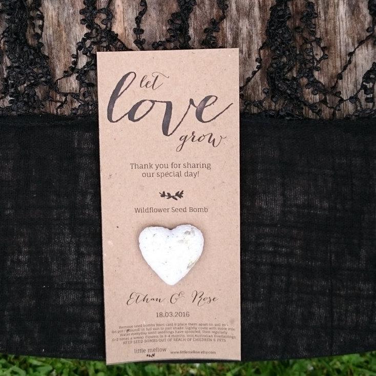 Wedding Favours Plantable Wildflower Seed Bomb Australian Made