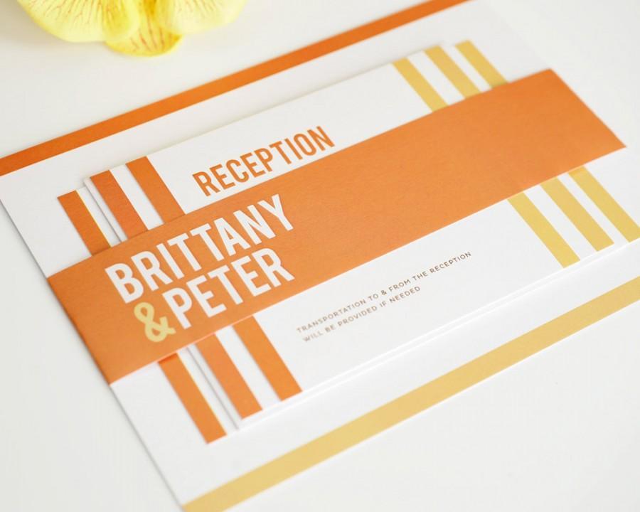 modern stack wedding invitation stripes contemporary ultra