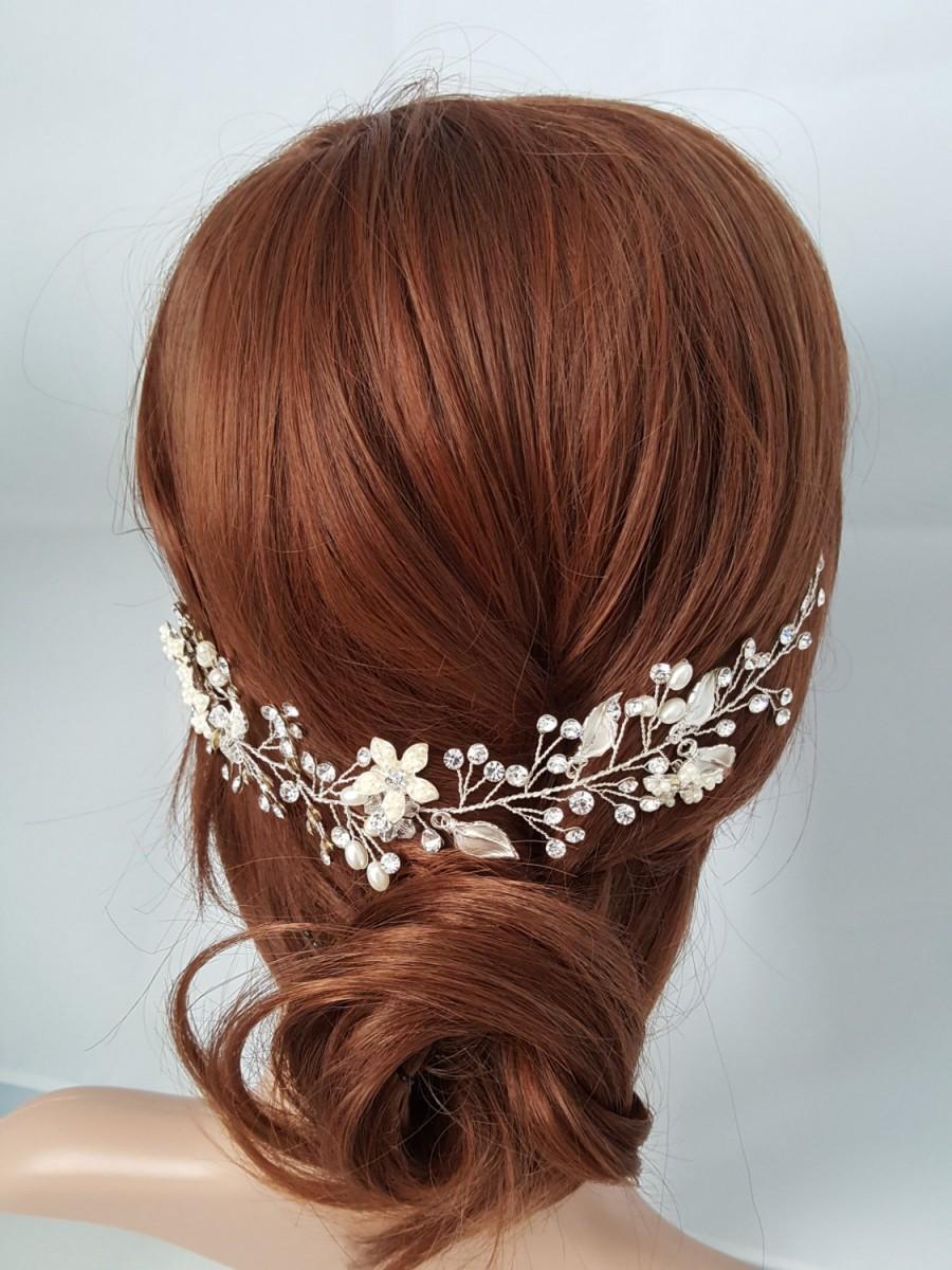 Mariage - Wedding Hair Vine, Silver Bridal Head Piece, Gold Bridal Hair Accessory, Hair Vine