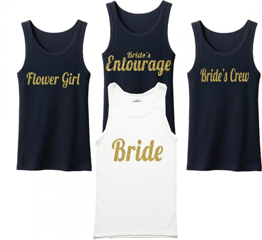 Bachelorette Party Shirts Bridal Bridesmaid Wedding Tank Top He Popped The Question Shirt Bride Gift