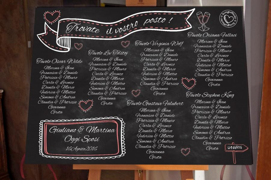 Свадьба - Wedding tableau chalkboard in forex. It is a personilzed and original way to welcome your beloved hosts at your most important day!
