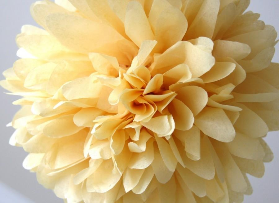 Свадьба - Wheat Tissue Pom Pom .. Wedding Decoration / Bridal Shower / Birthday / Party Decoration / DIY
