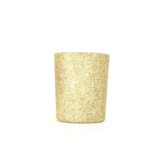 Свадьба - Gold Glittered Votive Candle Holder, Wedding and Shower Decorations, Home Decor