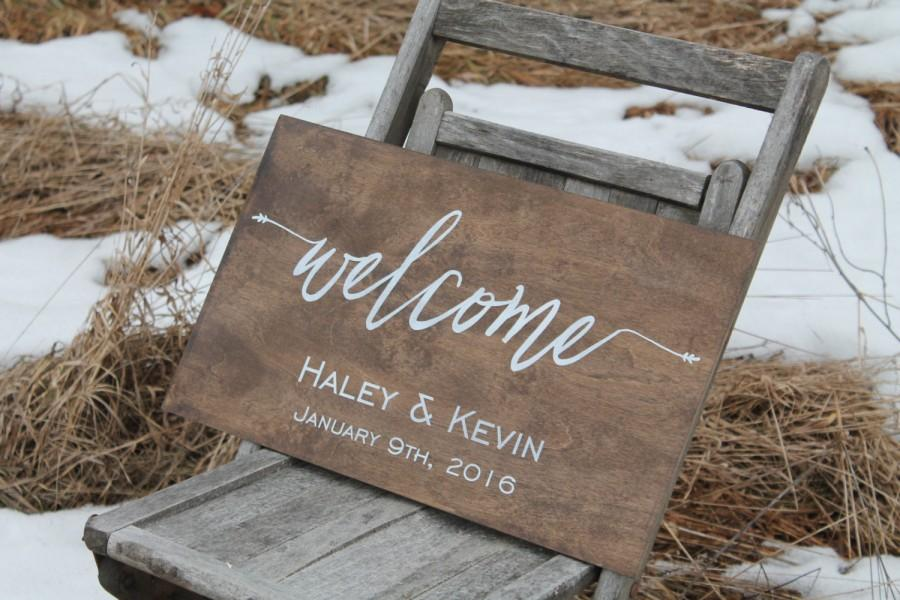 Свадьба - Welcome to Our Wedding Sign, Personalized Wedding Sign, Rustic Wooden Wedding Sign Wild Oaks