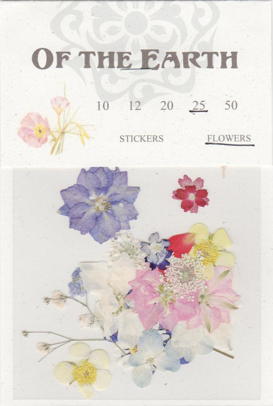 Свадьба - Mixed Pressed Flowers - pack of 25 1/2 inch to 2 inch pinks, blues, purples, yellow, white and red