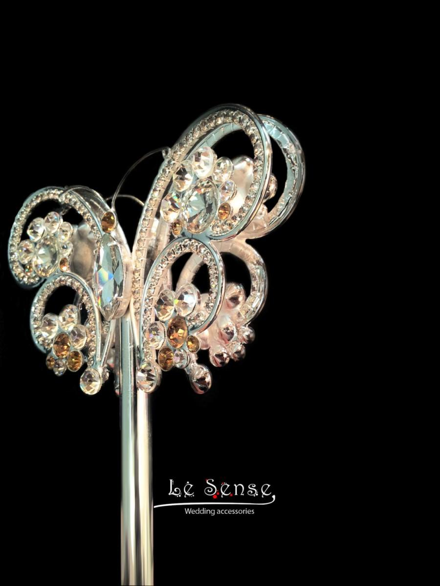 Hochzeit - Unique handmade wedding bouquet Scepter crystal  Scepter brooch bouquet ,crystal bouquet ,bouquet jewelry