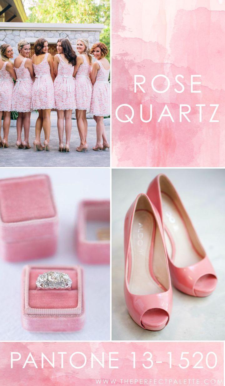 Hochzeit - Pantone - Rose Quartz 13-1520