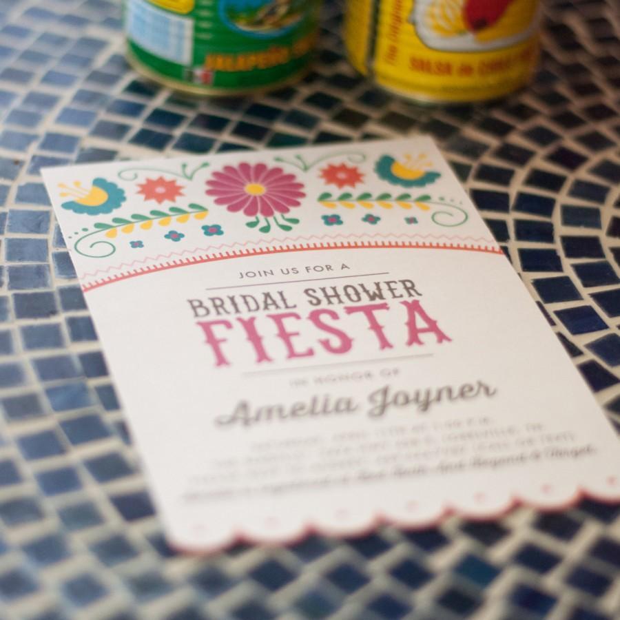 printable fiesta bridal shower invitations mexican cinco de mayo
