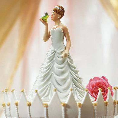 Princess Bride Kissing Frog Prince Groom Only Fairytale Wedding Cake Topper Items Sold Separately Porcelain Painted Figurines