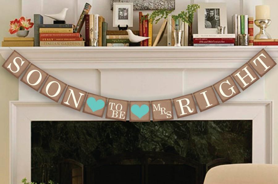 Свадьба - Engagement Banner - Soon to Be Banner - Wedding Party Decor Sign - Bridal Shower Garland