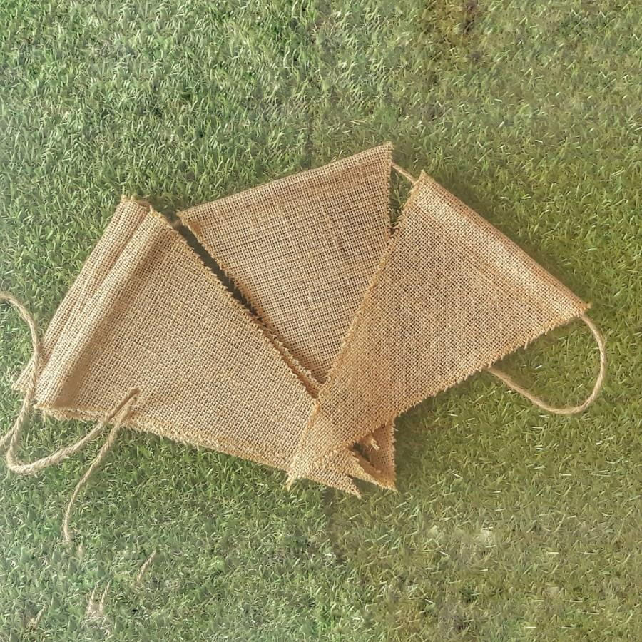 Mariage - Burlap Banner Triangle, Triangle Pennant Flag Bunting Sign Wedding Garland, Blank Banner Party Decor, Blank Banner Rustic Wedding