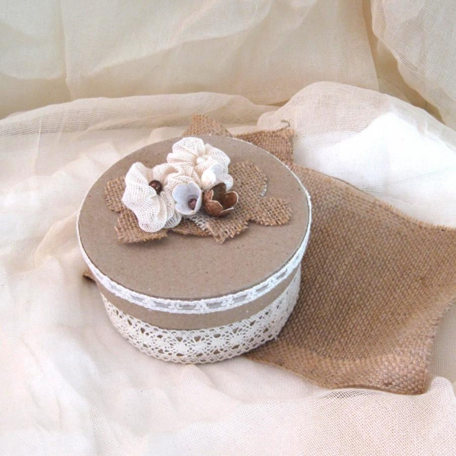 Mariage - Vintage romantic craft box. Storage craft box