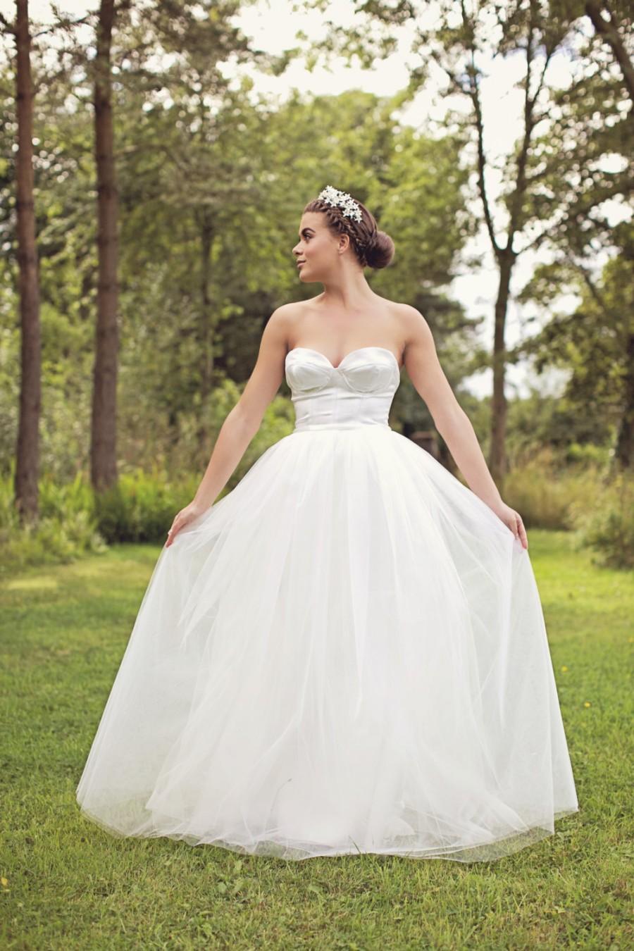 Свадьба - Grace - Silk Tulle Wedding Dress