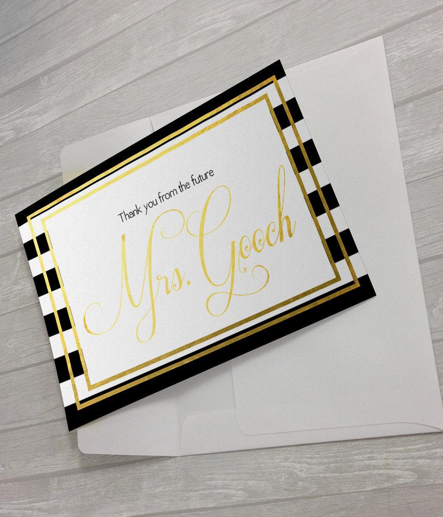 Mariage - Future Mrs Thank You Notecard for the Bride to Be!