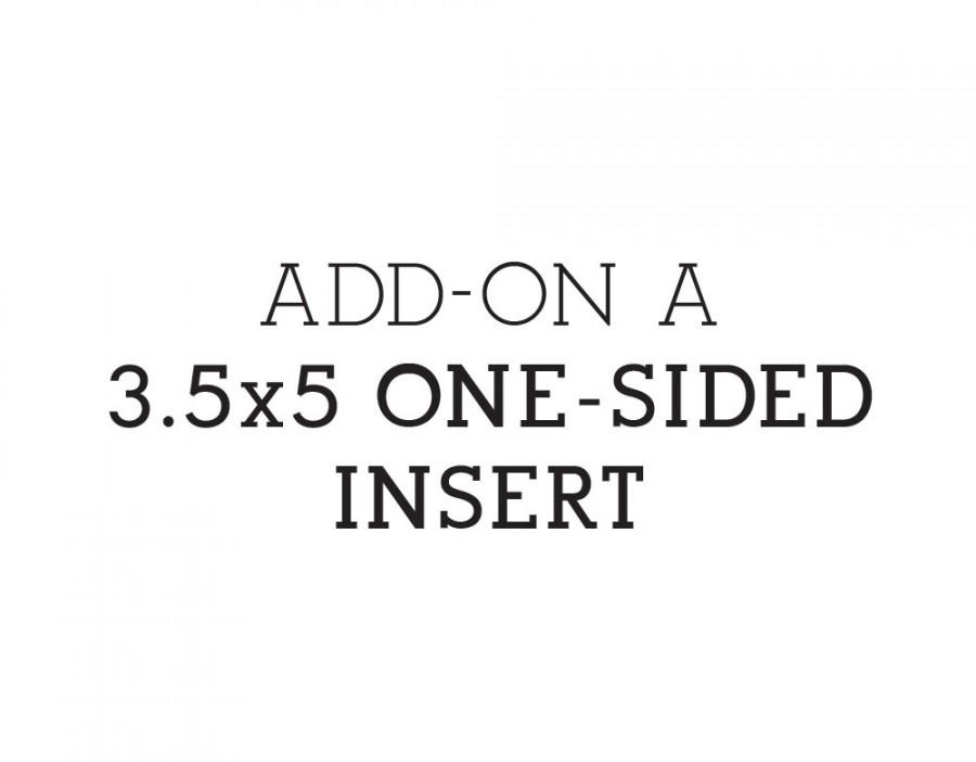 Mariage - ADD-ON: Additional 3.5x5 one-sided insert