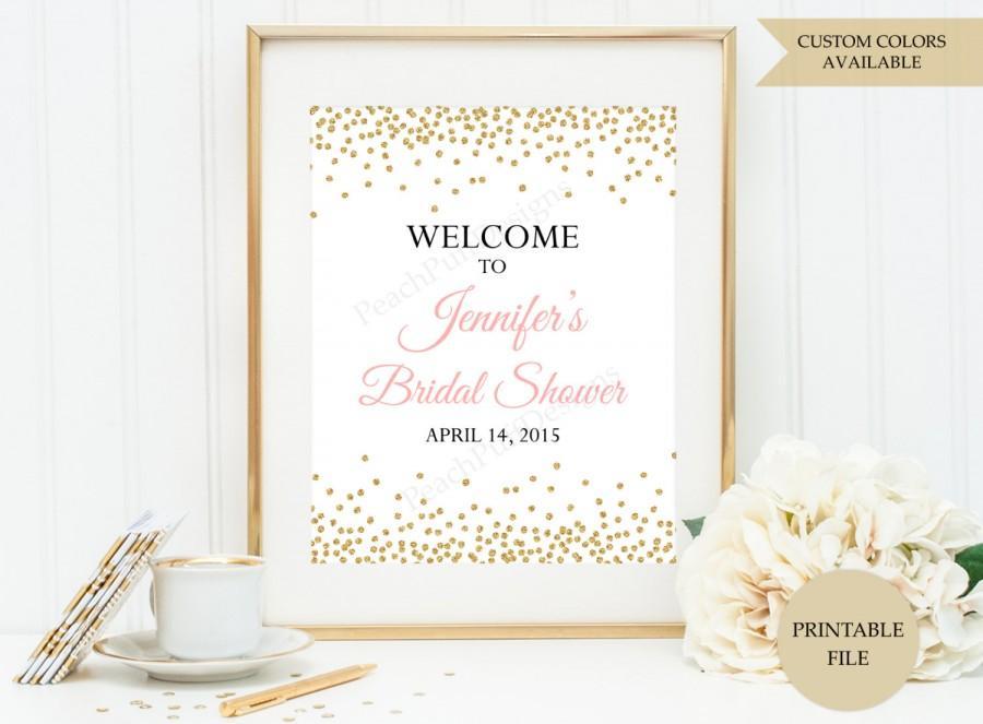 Hochzeit - Bridal Shower welcome sign (PRINTABLE FILE) - Bridal shower sign - Bridal shower printable