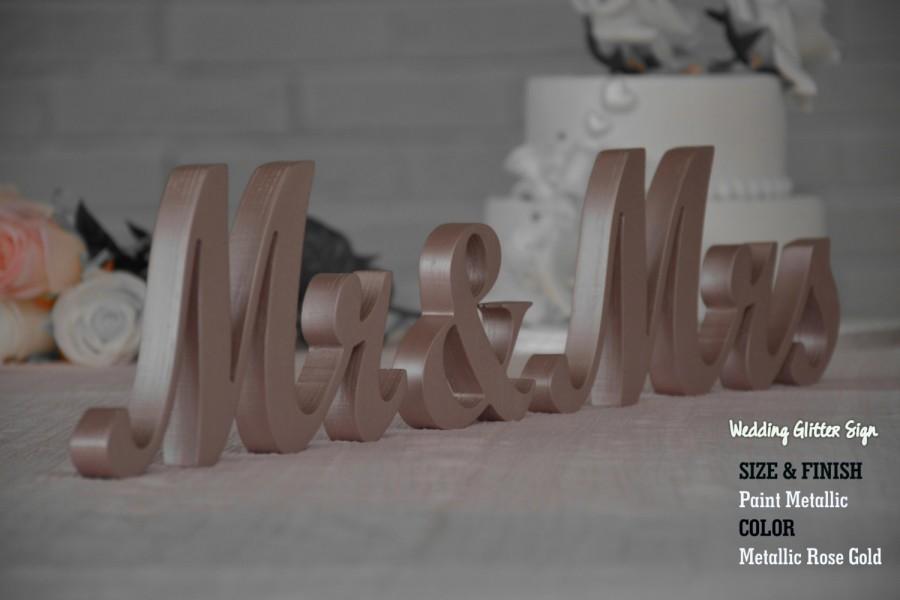 Hochzeit - MR & MRS Rose Gold, Rose Gold Wedding Decorations, Rose Gold Sign, Rose Gold Centerpieces, Rose Gold