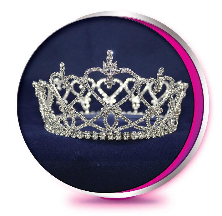 the round teresa rhinestone tiara pageant wedding prom