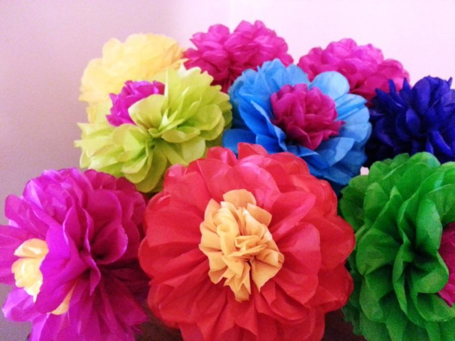 Tissue paper fiesta flowers set of 8 tissue paper flower tissue paper fiesta flowers set of 8 tissue paper flower decorationmexicoparties decorcinco de mayo mightylinksfo