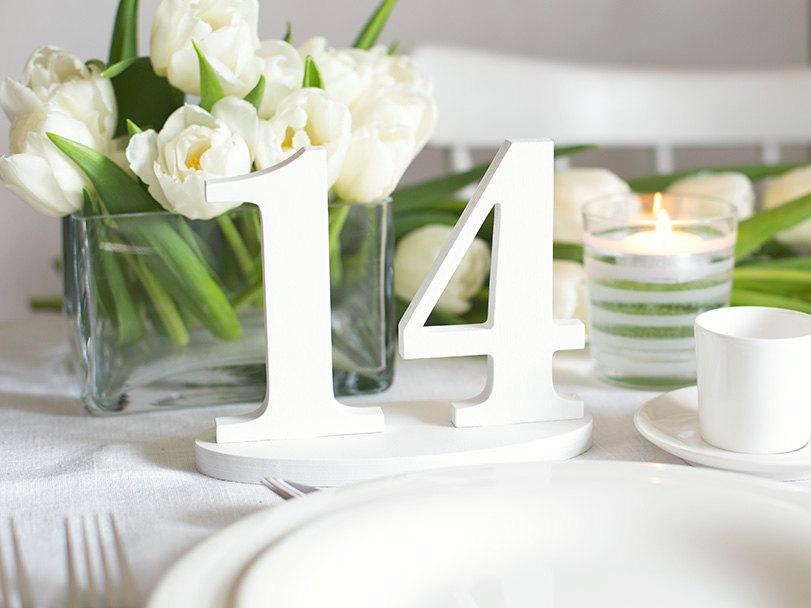 Свадьба - Wedding table numbers wooden number DIY decorations set 1-14