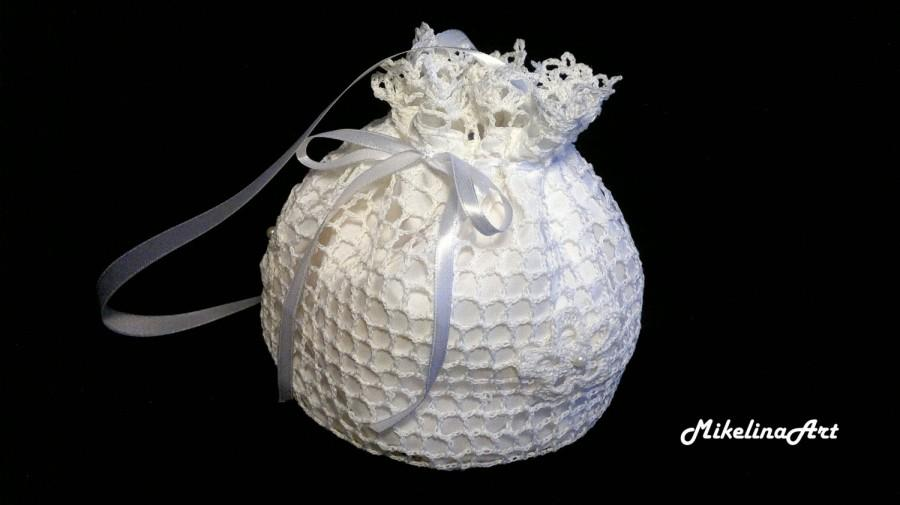 Crochet Bridal Purse,Handmade Bridal Purse,White #2477259 ...