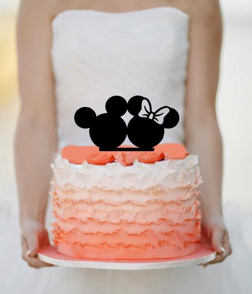 Hochzeit - Disney wedding cake topper - Custom Wedding Cake Topper - Mickey & Minnie Cake Topper - Wedding Decoration - Personalized Cake topper