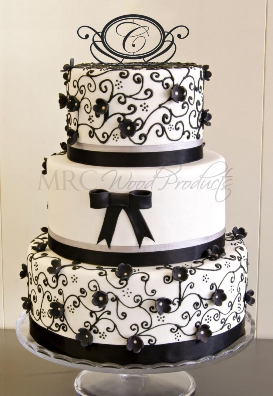 Mariage - Wedding Cake Topper Personalized Mr and Mrs Cake Topper